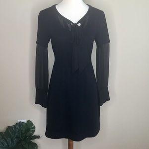 Parameter Black Wool and Silk Sweater Dress Sz M